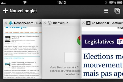 chrome iphone 2 Google Chrome pour iOS : un excellent navigateur Web pour votre iphone ou iPad