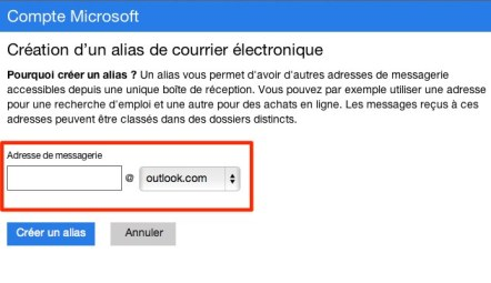 outlook alias mail Outlook.com : 6 astuces