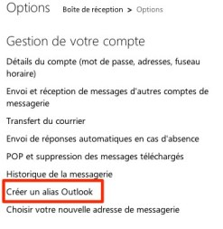 outlook Hotmail devient Outlook.com: comment créer vos alias Outlook