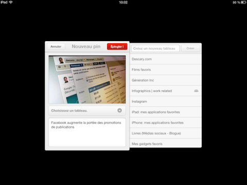 pinterest ipad android 1 Pinterest dvoile ses applications iPad et Android