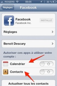 facebook parametres ios iPhone   iPad iOS 6 : dix astuces 