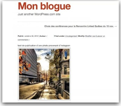 wordpress instagram photo Wordpress.com vous permet d'intégrer des photos provenant d'Instagram