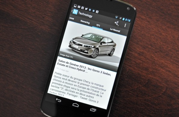 news android descary News, un client Google News pour Android