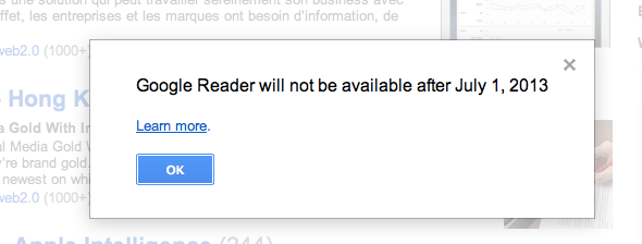 google reader descary 1 Google fermera Google Reader le premier juillet