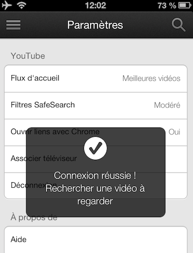 xbox 360 youtube associer appareils 3 iPad   iPhone: Comment utiliser Sent to TV, le AirPlay de Google sur votre xBox 360