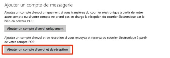 outlook ajouter compte courriel mail