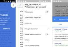 Google Docs pour Android : lancez une recherche sur Google sans quitter votre document
