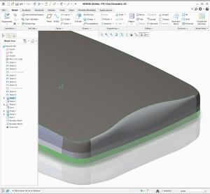 Creo Surfacing laptop shapes