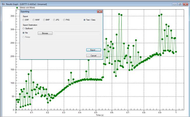 Autodesk Simulation Mechanical Graph Export