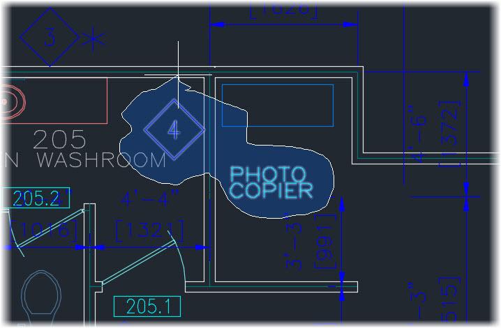 AutoCAD 2015 Lasso Selection