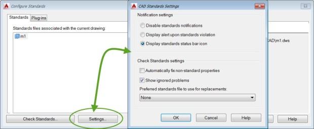 AutoCAD CAD Standards Settings