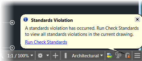 AutoCAD Standards Violation Found