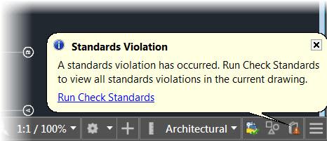 AutoCAD Standards Violation Found