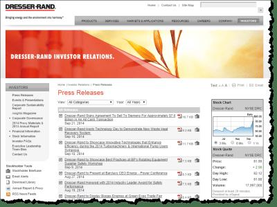 Siemens AG announces Dresser-Rand Acquisition