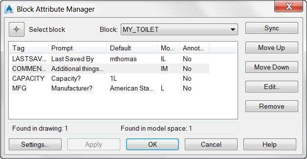 AutoCAD Block Attribute Manager