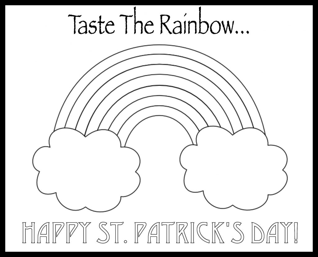 Eat a rainbow coloring pages for kids eat a rainbow for St patrick s day rainbow coloring pages