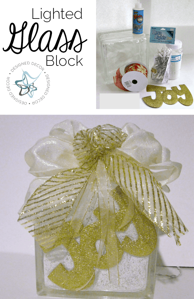 how to decorate clear glass blocks