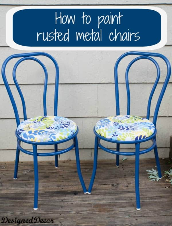 how to repurpose a rusted metal chair designed decor. Black Bedroom Furniture Sets. Home Design Ideas