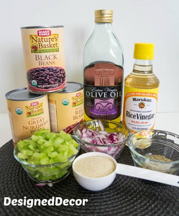 3-Bean Salad Ingredients