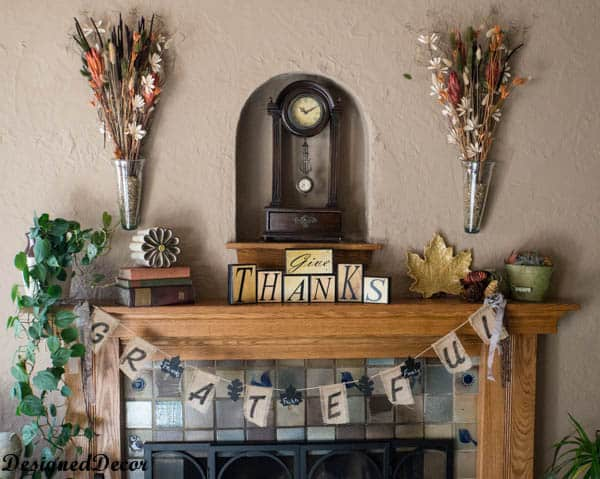 thanksgiving mantel 2013