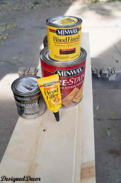 Minwax stain products used to stain a Mantle Shelf-