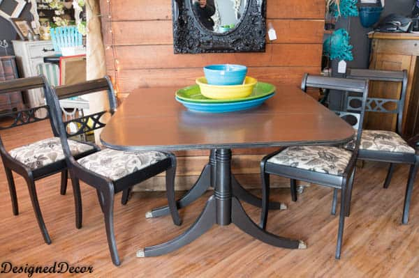 Drop Leaf Table and Chairs with Modern Masters Metallic Paint Collection