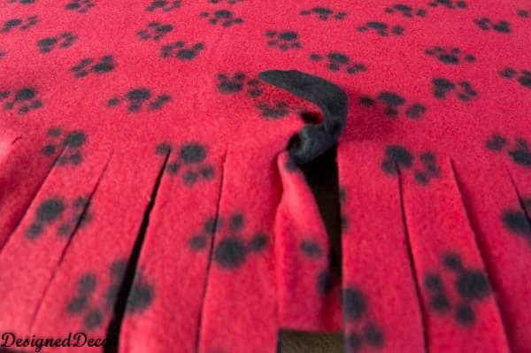 No Sew Blanket-