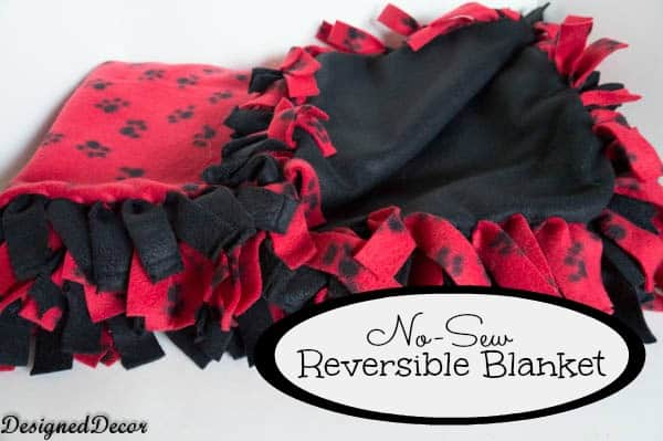 No Sew reversible Blanket-