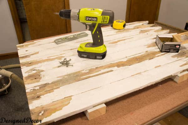 Using my Ryobi drill to attach pickets