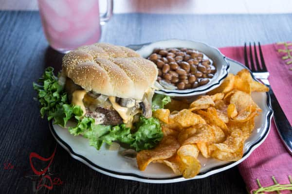 #SayCheeseburger~ Cream Cheese Stuffed Cheeseburger Dinner~ #CollectiveBias- #shop