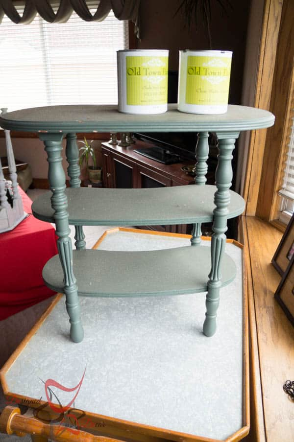 Kidney Accent Table - before photo - Old Town Paints