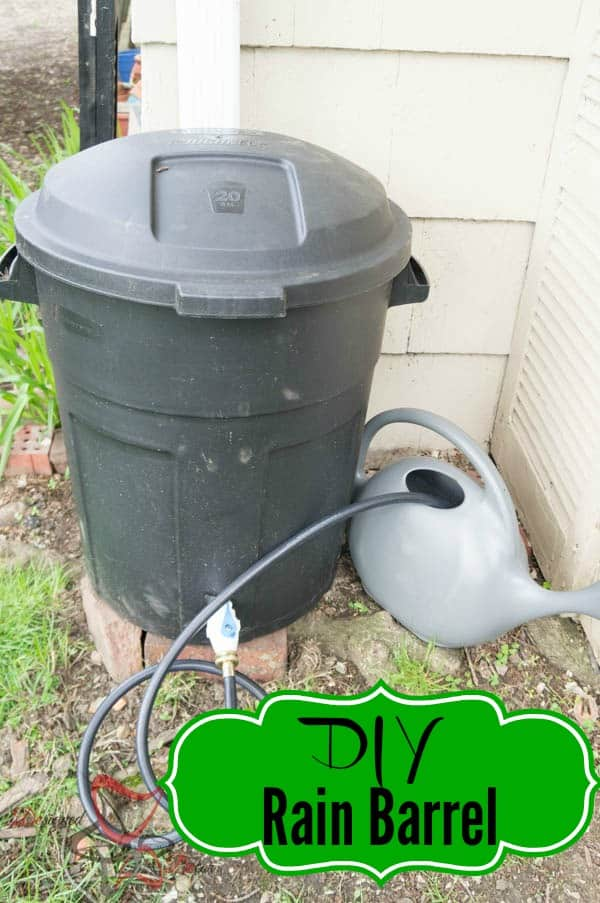 diy rain barrel tutorial designed decor