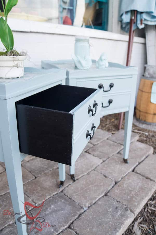 Fabric Top Accent Tables-