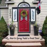 How to Spray Paint the Front Door!