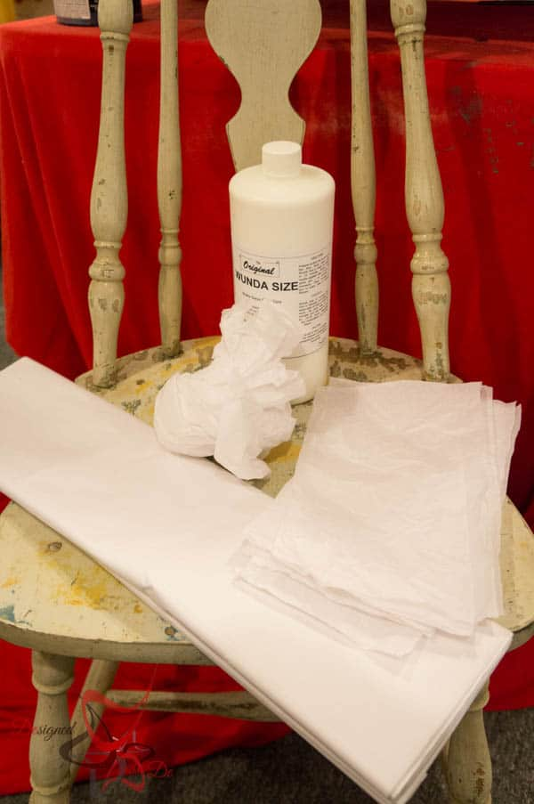 How to decoupage a chair using Tissue Paper