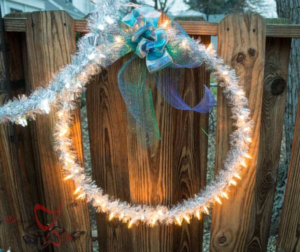 Tutorial for Outdoor Christmas Hanging Light Rings-