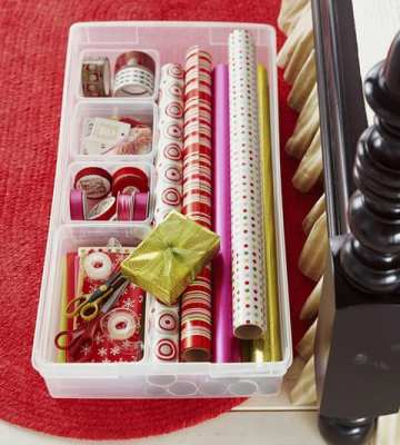 wrapping paper containers