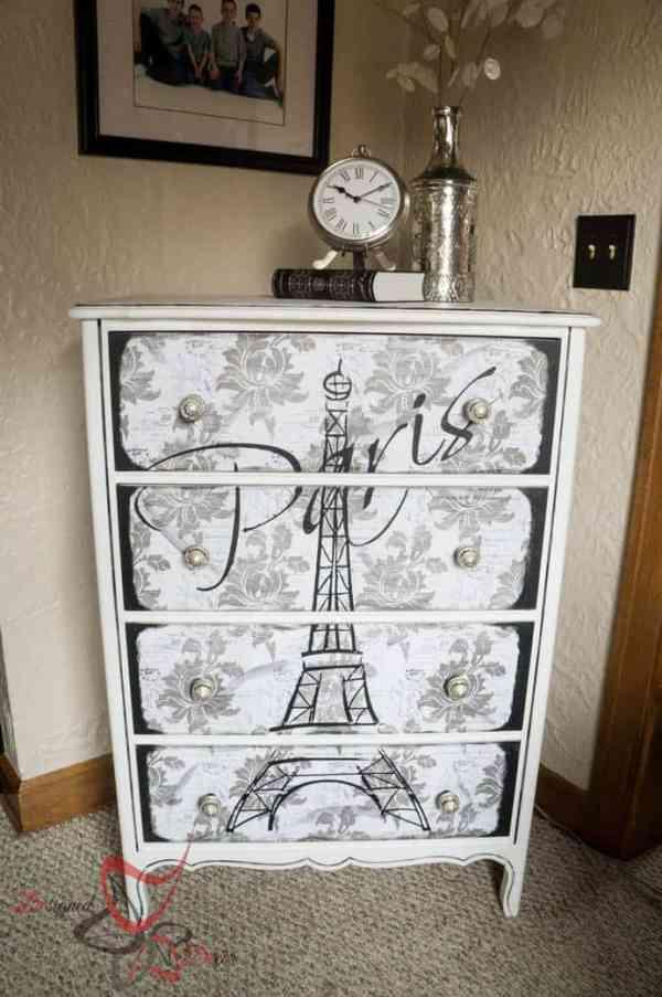 How To Decoupage Furniture Designed Decor