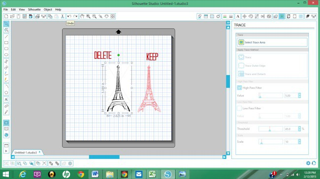 How to Use the Trace Area in Silhouette Studio