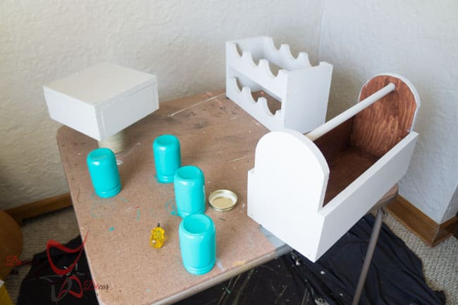 1 Power Tool Challenge- Garden Tool Box- Mason Jar Caddy-Wine Rack-20