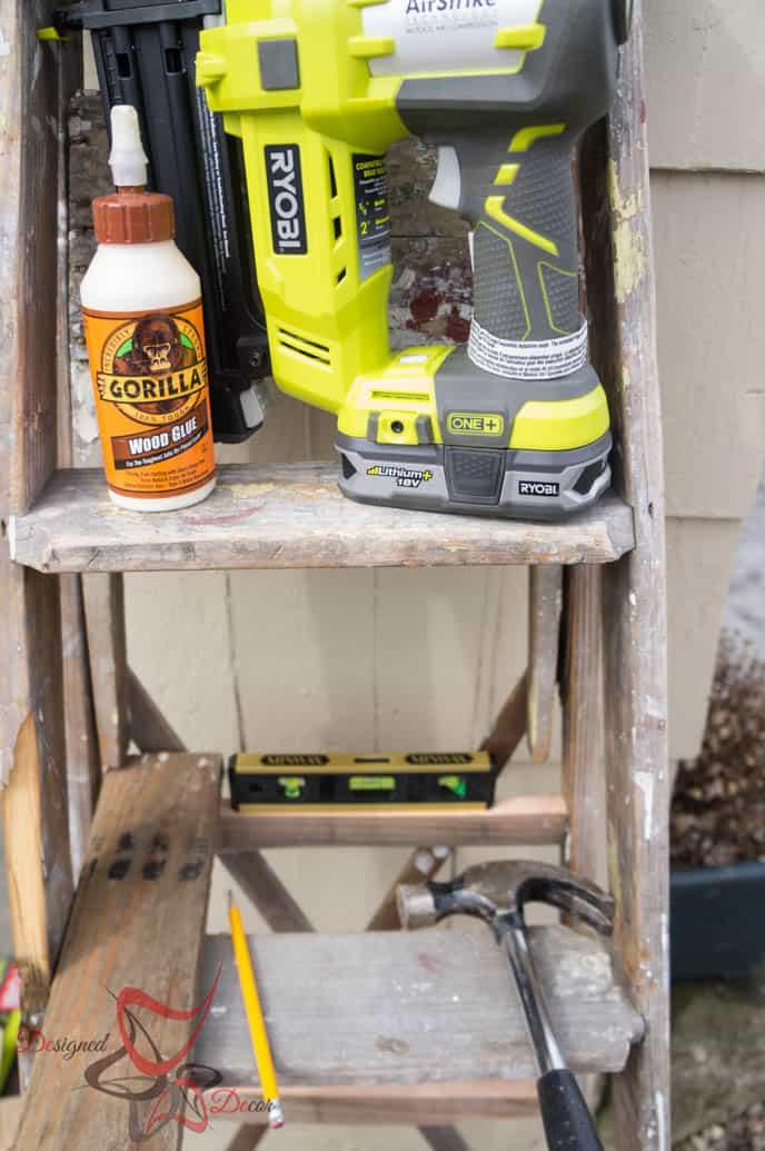 Repurposed Ladder Shelf-6