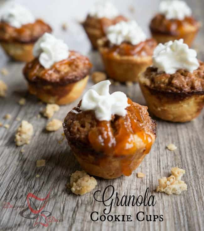 Granola Cookie Cups- Ginger Snap Granola-#ad-#FlavorsofFall - #collectivebias- Giant Eagle- Designed Decor -pinnable