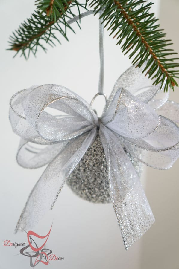Styrofoam Ball Glitter Ornament- Christmas Decorating on a Budget-Part 2!