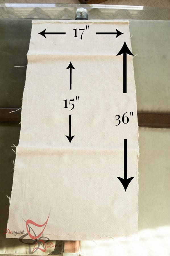 So Sew Easy Pillow Cover- DIY- Stenciled Fabric - Advent Calendar - measurements