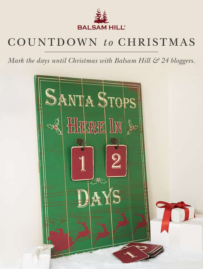 Countdown To Christmas Advent Calendar Designed Decor