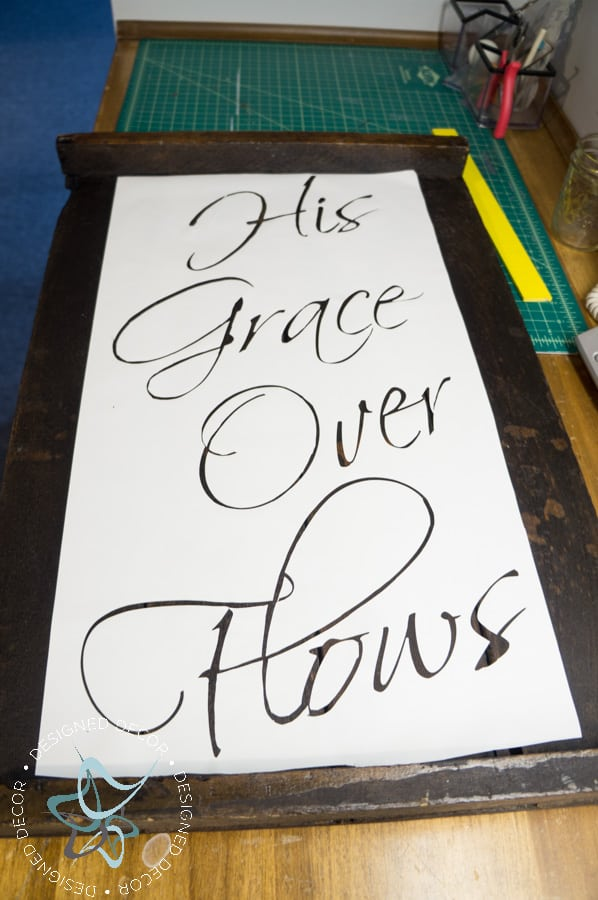 His Grace Over Flows - Repurposed Wood Wall Plaque (6 of 7)