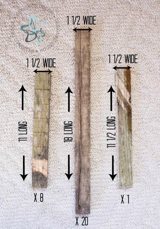 Pallet Hanging Light Cut Wood Pieces Photo 3