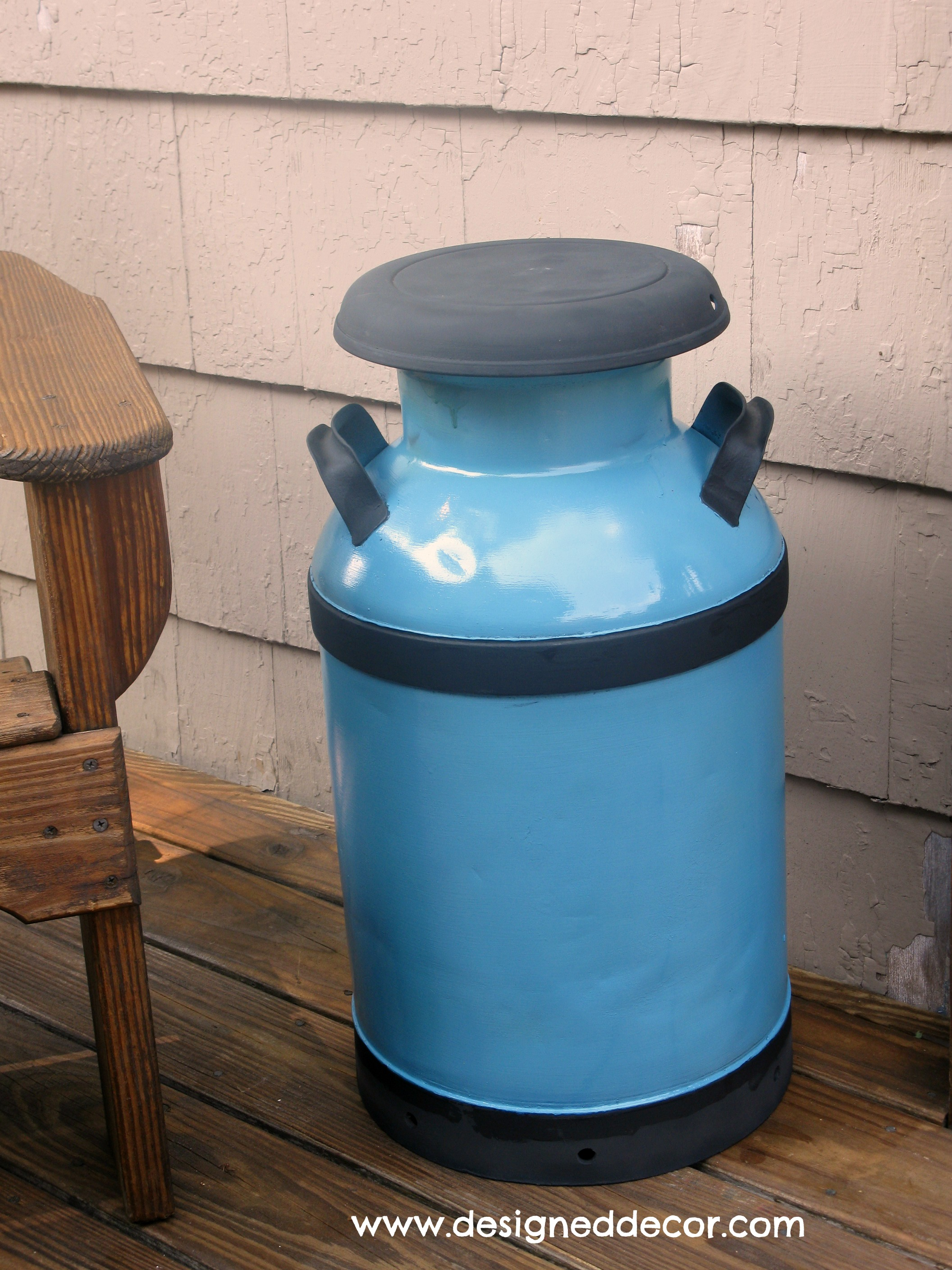 Re purposing an antique milk can designed decor for Old milk can decorating ideas