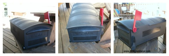 before pictures of an old plastic mailbox