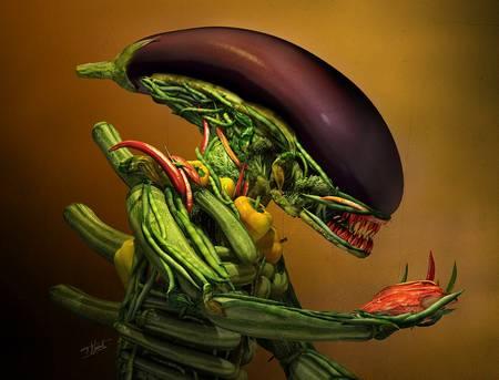 veggie alien by till nowak